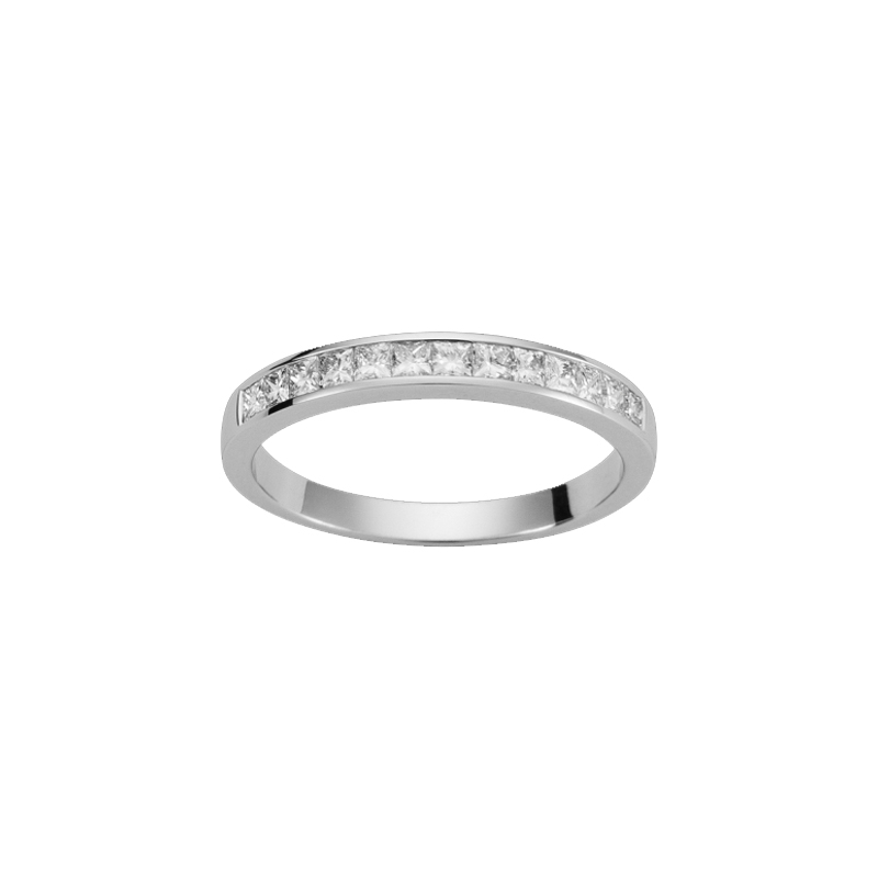 Alliance or blanc et diamants - 21001134