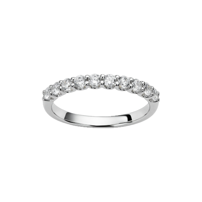 Alliance or blanc et diamants - 21001138