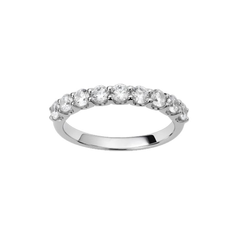 Alliance or blanc et diamants - 21001140