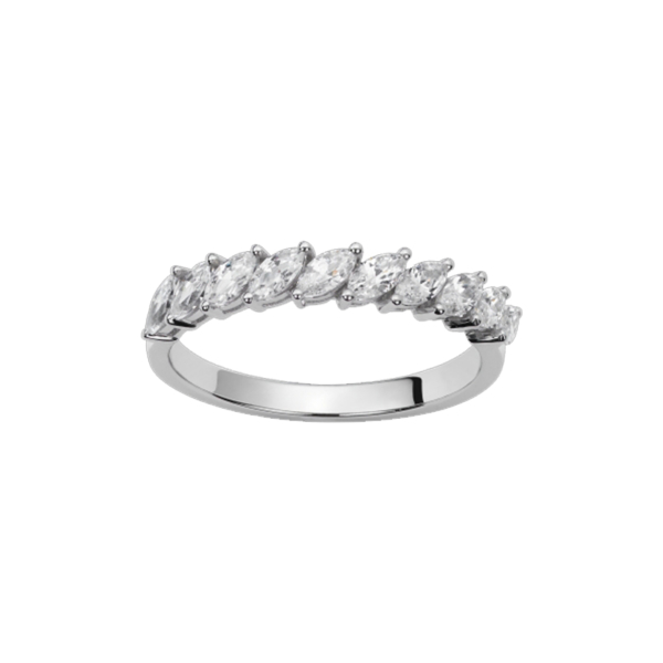 Alliance or blanc et diamants – 21001142 1