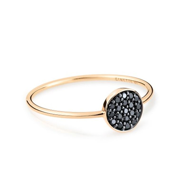 Bague Ginette NY Mini Black Diamond Ever - RMEVD1N