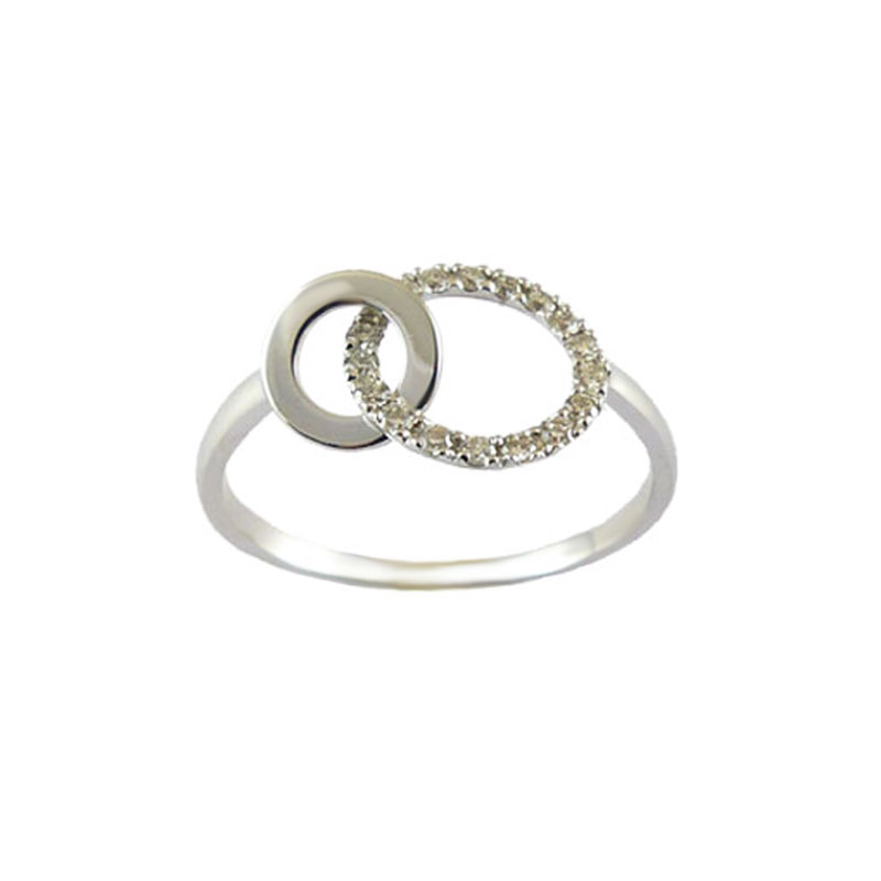 Bague or blanc et diamants - 12789