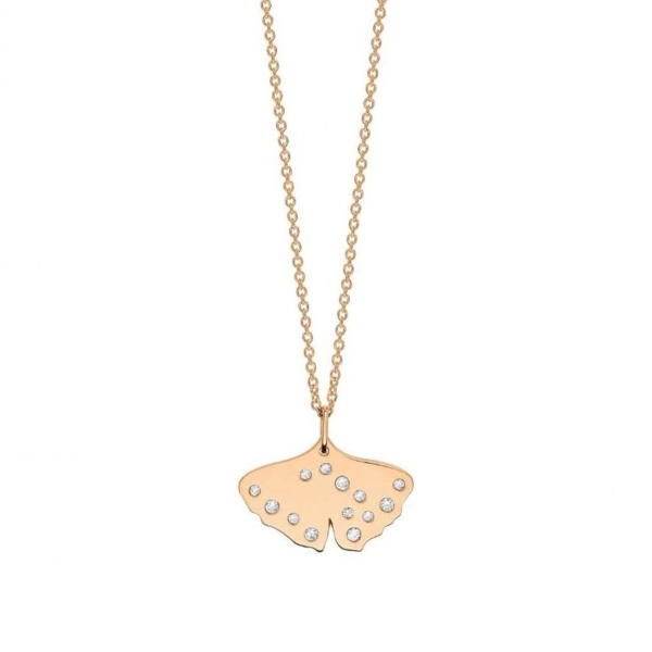 Ginette NY – Collier Gingko diamants – GNK03D 1