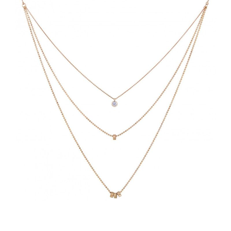 Ginette NY - Collier Lonely Diamonds multi-rangs - LD04