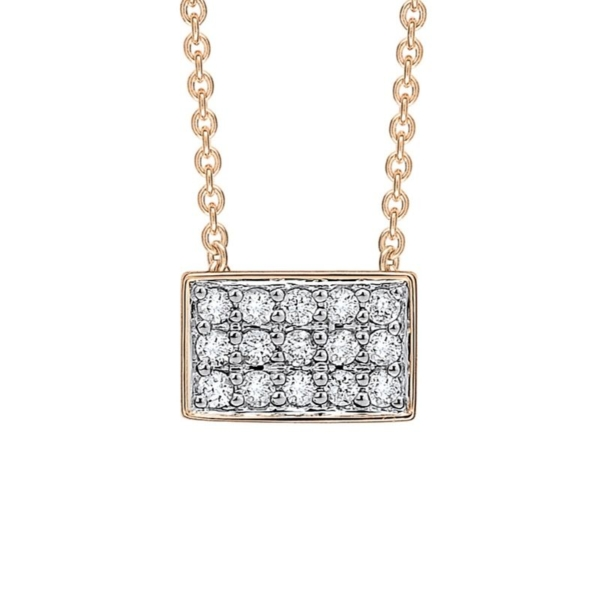 Collier Ginette NY Rectangle Diamants – TDRD 2