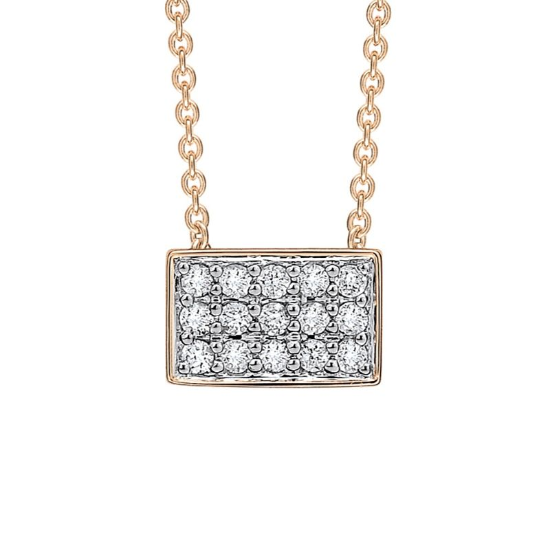 Collier Ginette NY Rectangle Diamants - TDRD