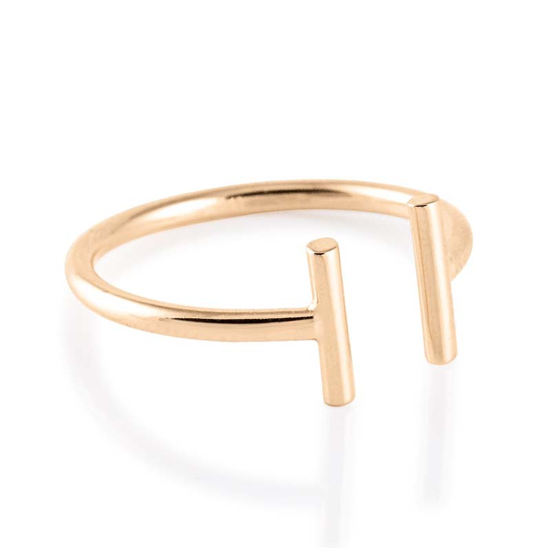Ginette NY - Gold strip open ring - RGS