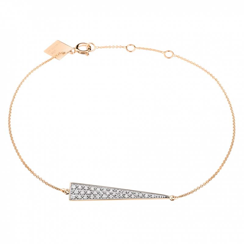Ginette NY - Mini diamond arrow bracelet - BARD